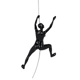 Climbing Woman C - Black Gloss