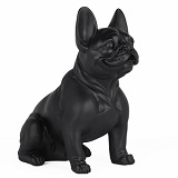 French Bulldog Sitting - Matte Black