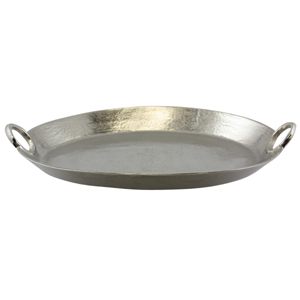 Rough Nickel 50cm Oval Tray