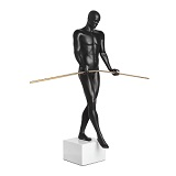 The Balancing Man Sculpture - Matte Black