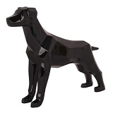 Geometric Dog Sculpture - Black