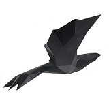 Origami Flying Bird Large- Matte Black