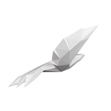 Origami Flying Bird Small- Pearl White