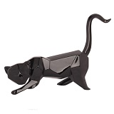 Geometric Cat Sculpture - Black
